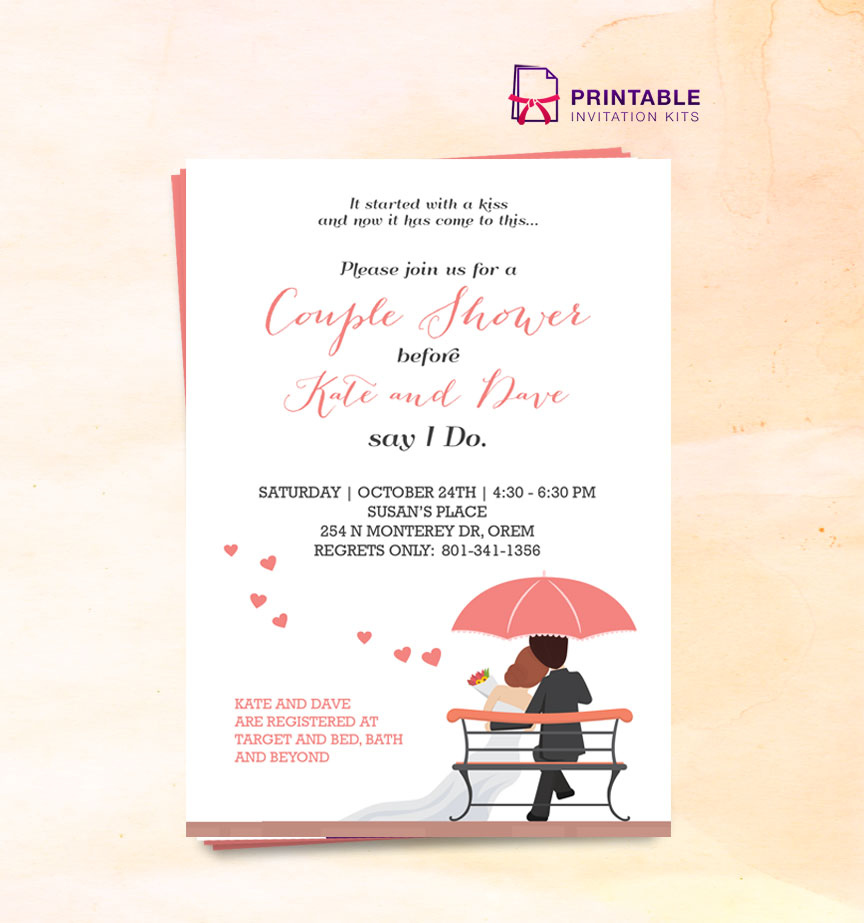 invitiation template - 2016 couple shower wedding invitation template wedding