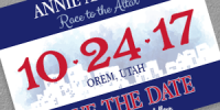 Race Bib Save the Date Invitation