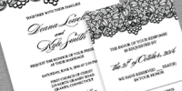 Black Lace Wedding Invitation and RSVP