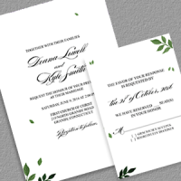 Free wedding invitation templates part 4 pressed leaves invitation and rsvp free pdf templates maxwellsz