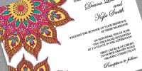 Mandala wedding invitation