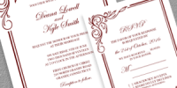 Scroll Border Invitation and RSVP