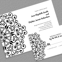 Mandala Boho Invitation and RSVP