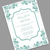 Boho Dots Wedding Invitation Template