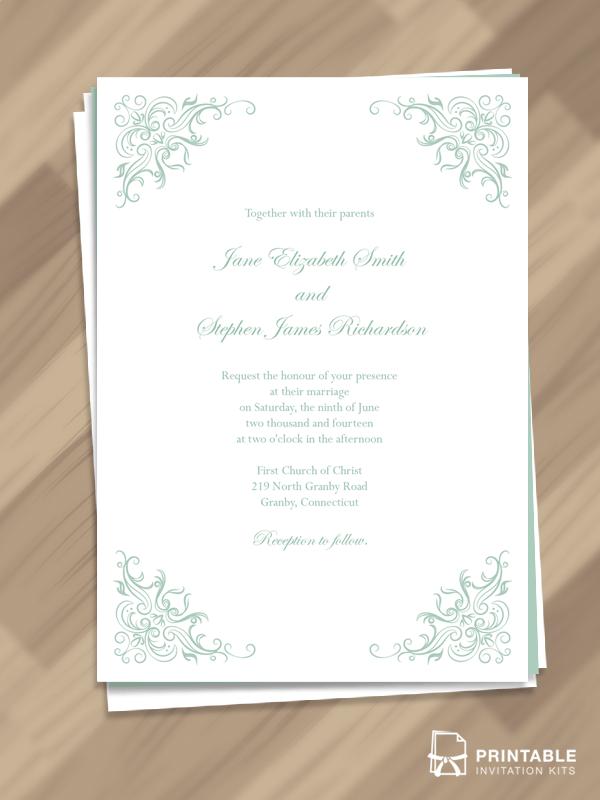 Classy Border Wedding Invitation