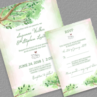 Fairy tale Wedding Invitation and RSVP templates