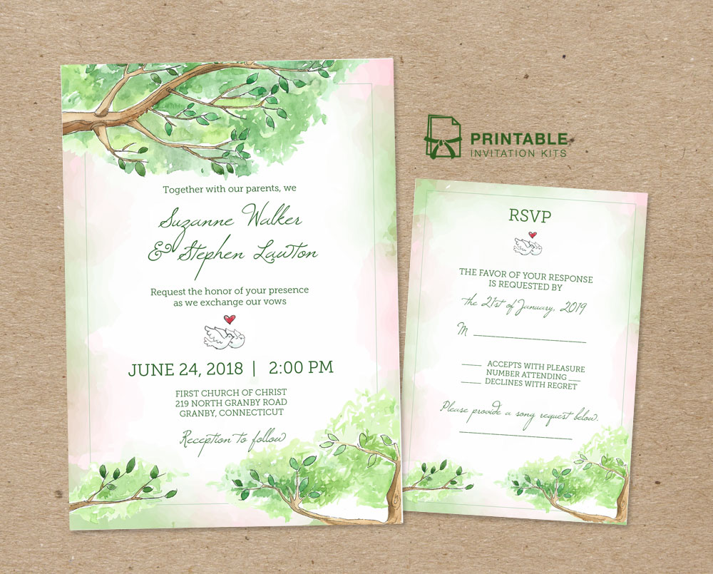 Wedding Invitation And Rsvp Templates For Fairy Tale Wedding