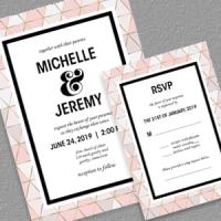 Modern Wedding Invitation and RSVP
