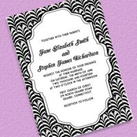 Gatsby Art Deco Wedding Invitation