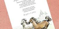 Country Horses Wedding Invitation