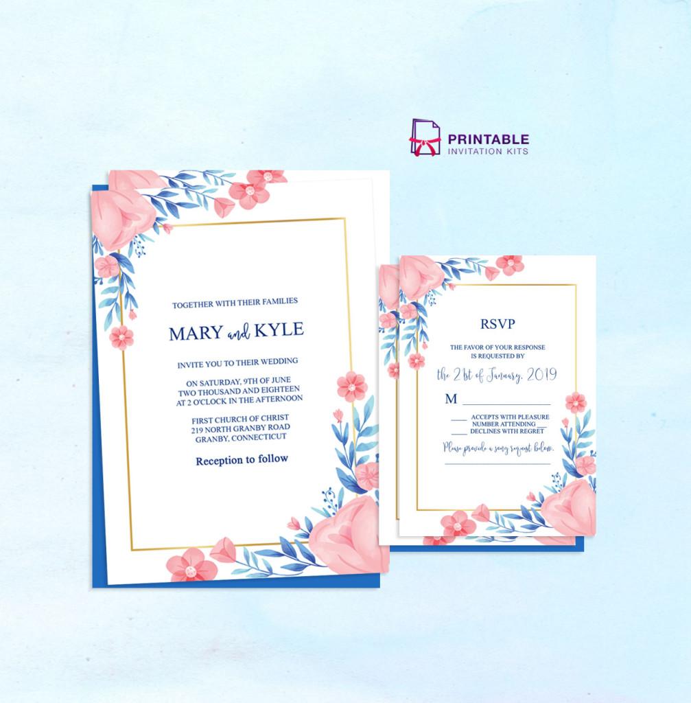 50+ FREE to Download Floral/Garden Wedding Invitation Templates ← Wedding  Invitation Templates – Printable Invitation Kits