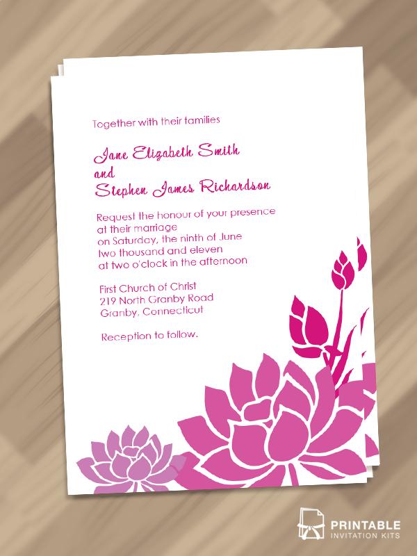 50 Free To Download Floral Garden Wedding Invitation
