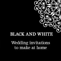 Black and White Wedding Invitation PDFs