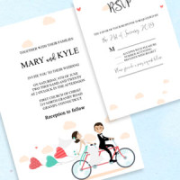 Print your own wedding invitation