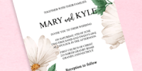 Grand Fleur Wedding Invitation PDF