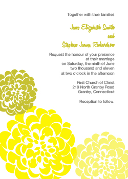Chrysanthemum Invitation - Yellow