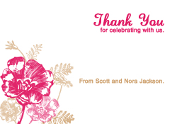Guava and Latte Flowers Thank You Card