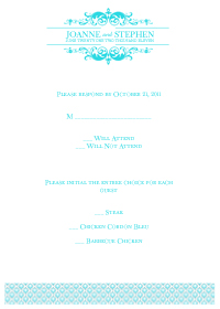 Wedding Logo RSVP Template - Teal