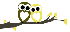 Love Owls Green and Yellow JPEG