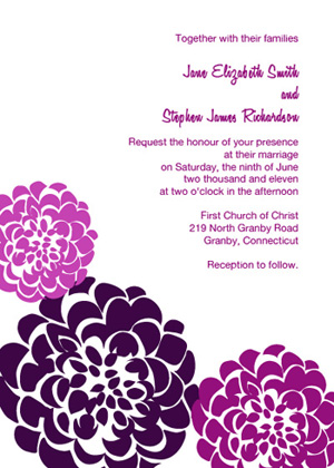 Chrysanthemum Invitation - Eggplant