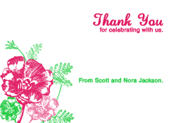 Pink and Clover Thank You Card