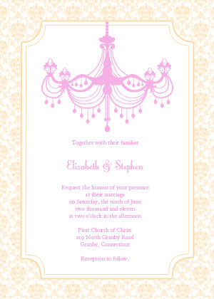 Vintage Chandelier Invitation - Champagne
