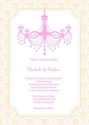Vintage Chandelier Invitation - Champagne