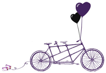 Tandem Bike - Clipart