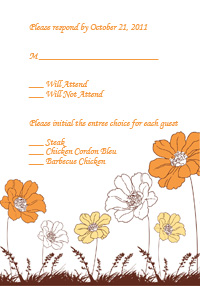 Country Blooms RSVP Template