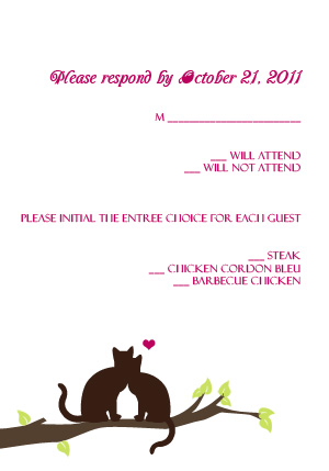 Love Cats - RSVP Template