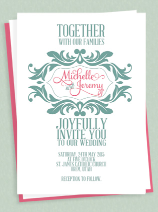 Stylized Monogram Invitation