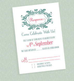 Sylized Monogram RSVP