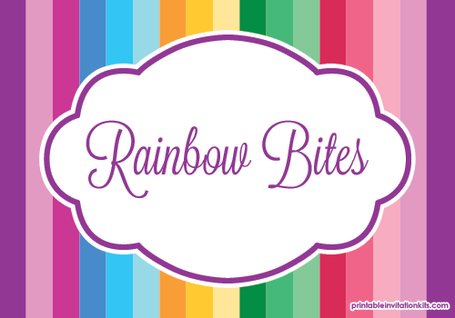Rainbow and Unicorn Birthday Party Labels