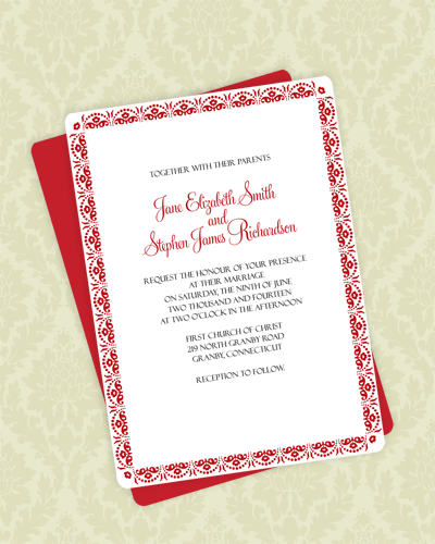 Floral Scallop Invite