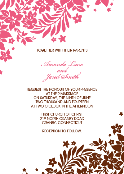 Foliage Borders Invitation