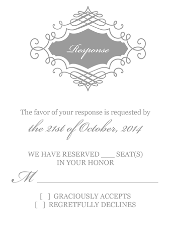 Beautiful Wedding Monogram RSVP