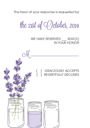 Mason Jar and Lavender RSVP