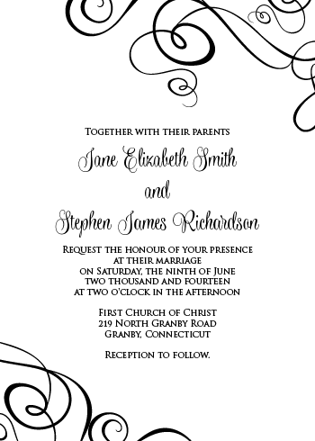 Swirly Ribbons - Invite