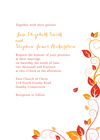 Autumn Foliage Invitation