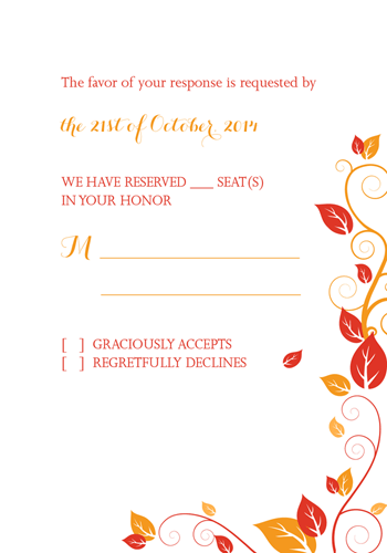 Autumn Foliage RSVP
