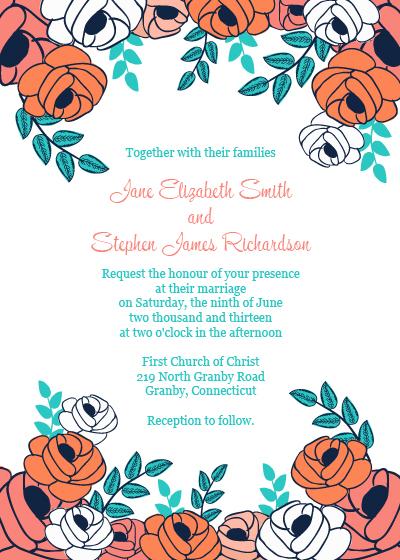 Summer Garden Border Invitation