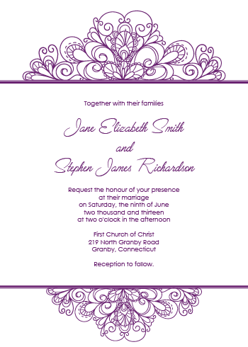 Ornamental Header Invitation