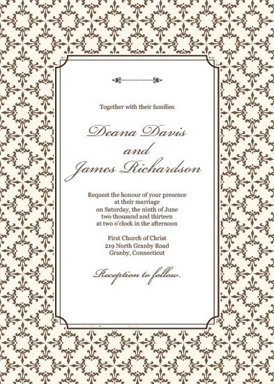 Stately Frame Invitation