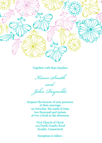 2016 Spring Blooms Invite