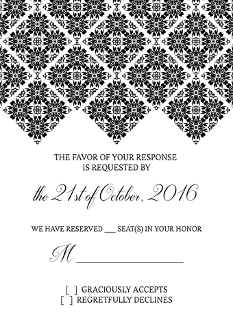 Diamond Border RSVP